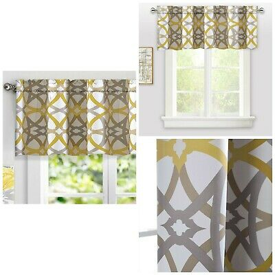 Inspiration about Driftaway Alexander Spiral Geo Trellis Pattern Window For Trellis Pattern Window Valances (#7 of 50)