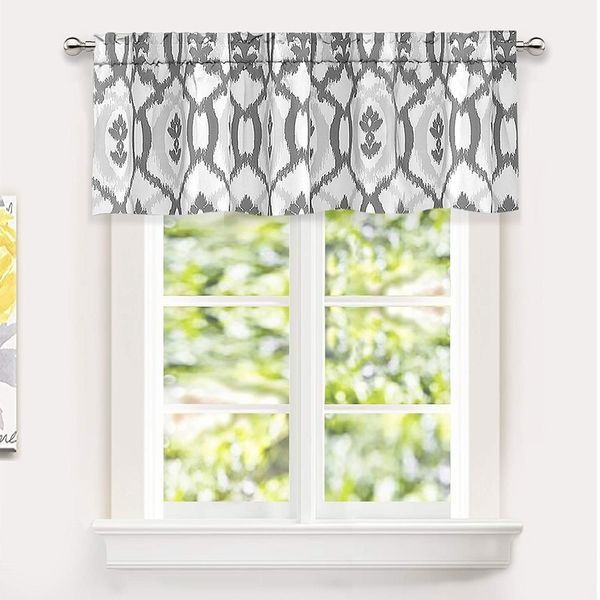 Inspiration about Driftaway Evelyn Ikat Fleur/floral Pattern Window Curtain Intended For Floral Pattern Window Valances (#2 of 50)