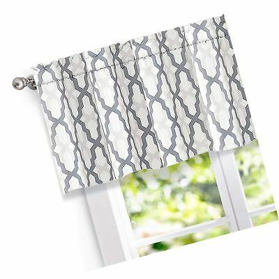 Inspiration about Driftaway Mason Geometric Trellis Pattern Window Curtain Valance, Rod Pocket, | Ebay In Trellis Pattern Window Valances (#1 of 50)