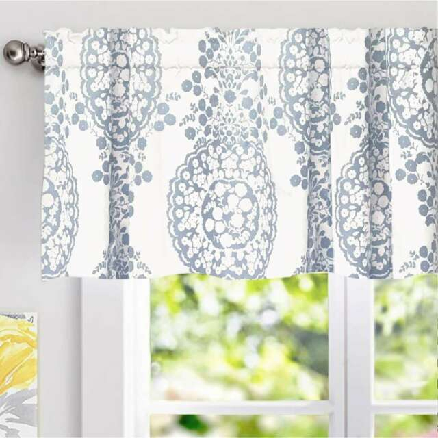 Driftaway Samantha Pastel Damask Printed Classic Window Pertaining To Pastel Damask Printed Room Darkening Kitchen Tiers (#19 of 50)