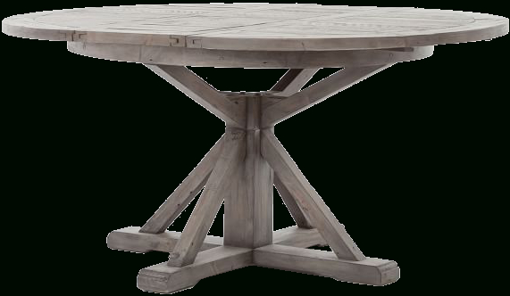 Inspiration about Driftwood White Hart Reclaimed Pedestal Extending Dining Tables With Regard To Most Recent Hart Reclaimed Extending Pedestal Dining Table, Driftwood White (#13 of 30)