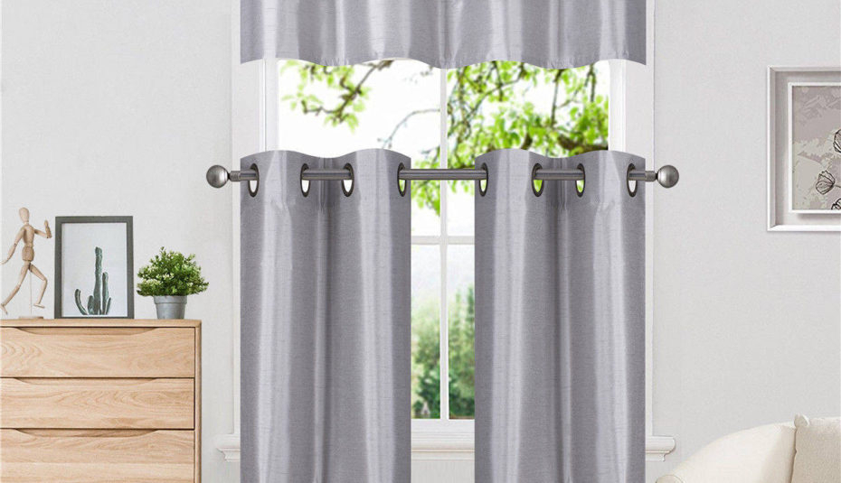 Inspiration about Drop Gorgeous Window Panels For Living Room Small Curtain Regarding Oakwood Linen Style Decorative Window Curtain Tier Sets (#14 of 30)