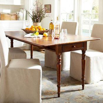 Inspiration about Drop Leaf Console – Pottery Barn With Regard To Well Known Salvaged Black Shayne Drop Leaf Kitchen Tables (#11 of 20)