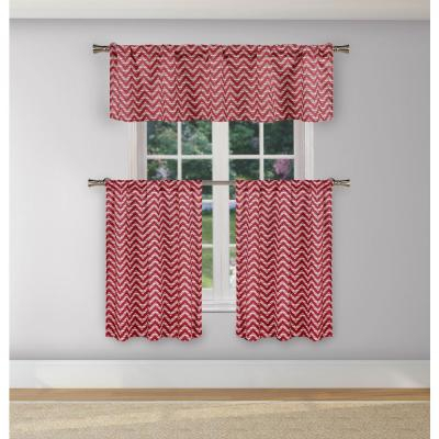 Duck River Bella Aqua Blue Room Darkening Kitchen Curtain For Red Delicious Apple 3 Piece Curtain Tiers (View 40 of 50)