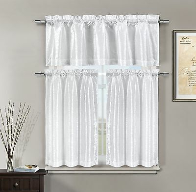 Duck River Textiles Dawn Faux Linen Kitchen Curtain Set Intended For Faux Silk 3 Piece Kitchen Curtain Sets (View 18 of 44)