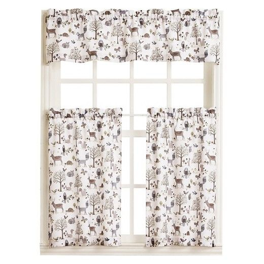 • 100% Polyester Construction<Br>• Garden Themed With Regard To Forest Valance And Tier Pair Curtains (View 30 of 30)