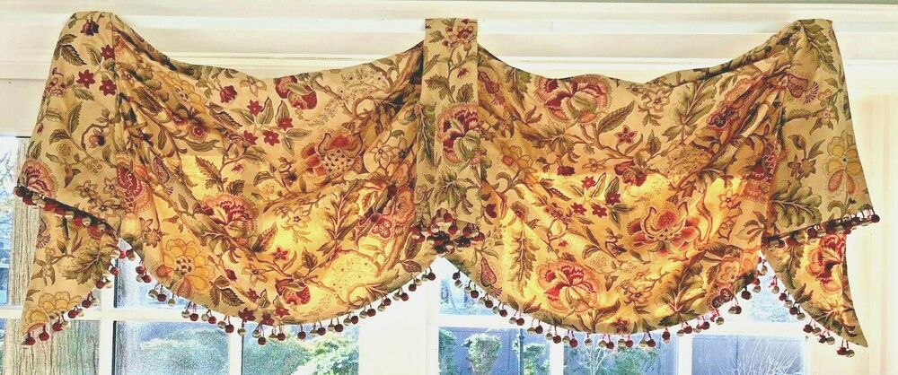 Ebay #sponsored 4 Valance Swag Waverly Imperial Dress 52 Inside Imperial Flower Jacquard Tier And Valance Kitchen Curtain Sets (#24 of 46)