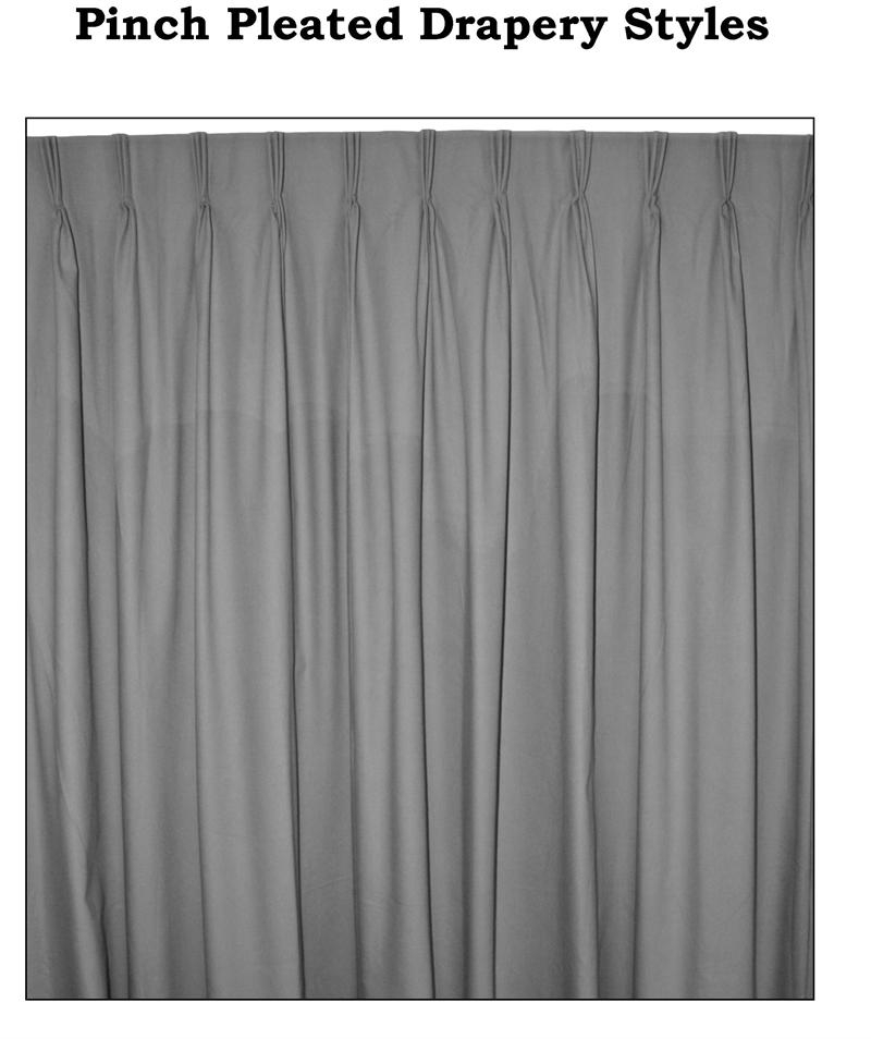 """Ec Group C Custom Pinch Pleated Curtain Pairs – 125"""" Wide With Regard To Pleated Curtain Tiers (View 12 of 50)"""