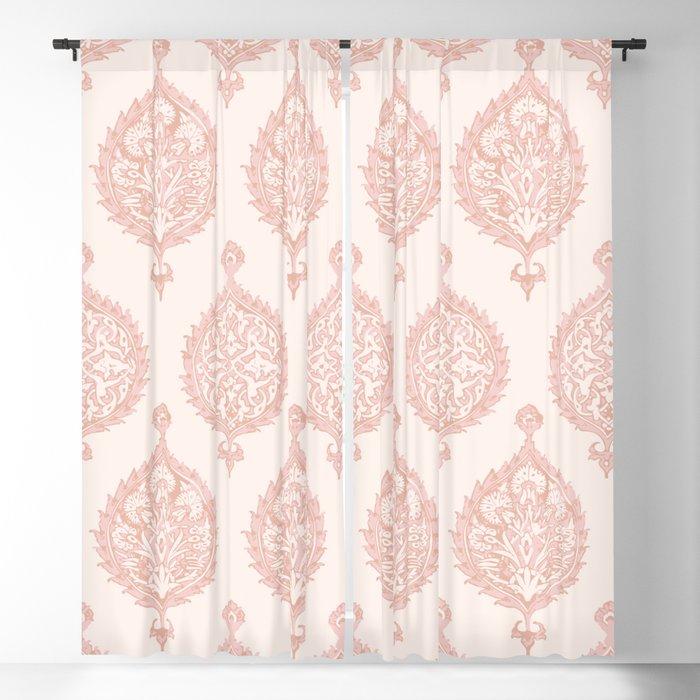 Edana Medallion In Pink Blackout Curtainbeckybailey1 Regarding Medallion Window Curtain Valances (#22 of 48)