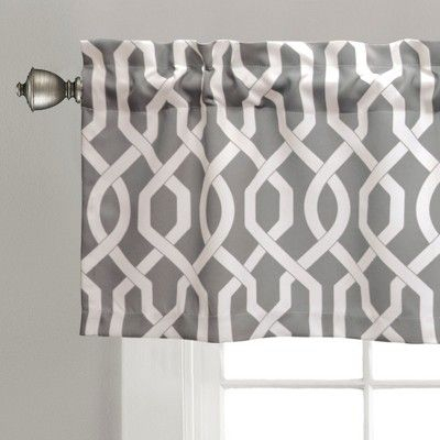 "Edward Trellis Room Darkening Window Valance Gray (52""x18 For Trellis Pattern Window Valances (#12 of 30)"