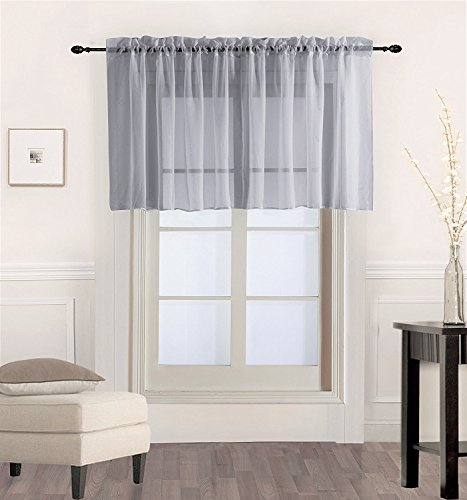 Ehp Luxury 1Pc Sheer Voile Straight Valance (Fully Stitched Pertaining To Chic Sheer Voile Vertical Ruffled Window Curtain Tiers (View 16 of 50)