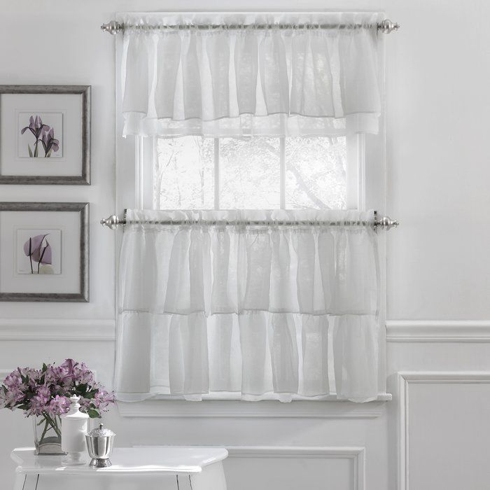 Popular Photo of Elegant Crushed Voile Ruffle Window Curtain Pieces