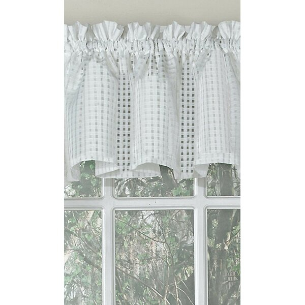 Elegant Window Valance | Wayfair Intended For White Tone On Tone Raised Microcheck Semisheer Window Curtain Pieces (#21 of 46)