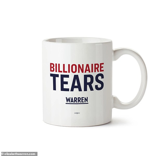 Elizabeth Warren's Campaign Charges $25 For Coffee Mug That Within Embroidered 'coffee Cup' 5 Piece Kitchen Curtain Sets (View 17 of 30)
