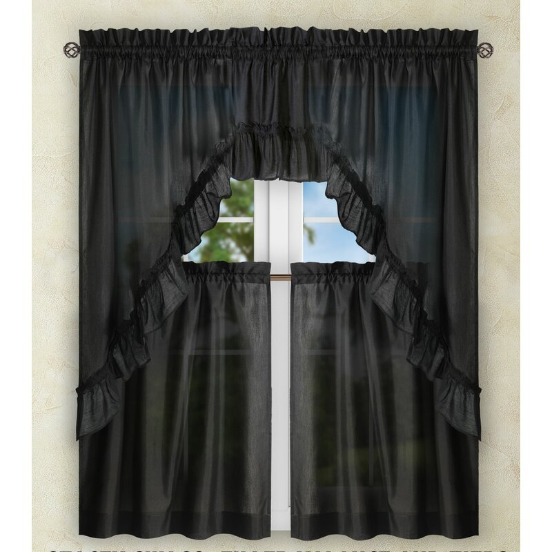 Ellis Tailored Tier Curtain Intended For Tailored Valance And Tier Curtains (#14 of 50)
