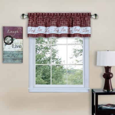 Elrene Linen Stripe Kitchen Tier Valance 38969Lin – The Home Regarding Linen Stripe Rod Pocket Sheer Kitchen Tier Sets (#14 of 46)