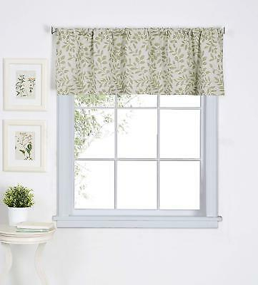 "Elrene Serene Rod Pocket Kitchen/cafe Valance Window Curtain 60""w X 15""l  Sage 