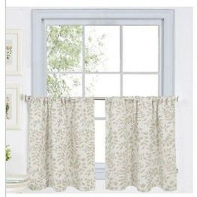 Elrene Serene Rod Pocket Valance 60X16In Linen Kitchen Pertaining To Serene Rod Pocket Kitchen Tier Sets (#15 of 30)