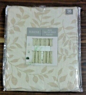 Elrene Serene Two Tier Rod Pocket Panels 60' X 30' Linen New | Ebay In Serene Rod Pocket Kitchen Tier Sets (#18 of 30)