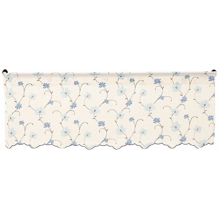 Elsberry Crushed Taffeta Open Floral Print 48'' Window Valance Inside Floral Pattern Window Valances (View 14 of 50)