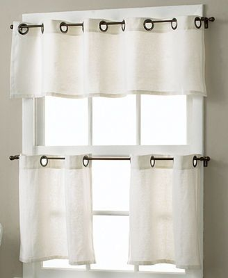 Essex Linen Grommet 30 X 36 Cafe Curtains Pair | Ideas For With Regard To Modern Subtle Texture Solid White Kitchen Curtain Parts With Grommets Tier And Valance Options (View 7 of 50)