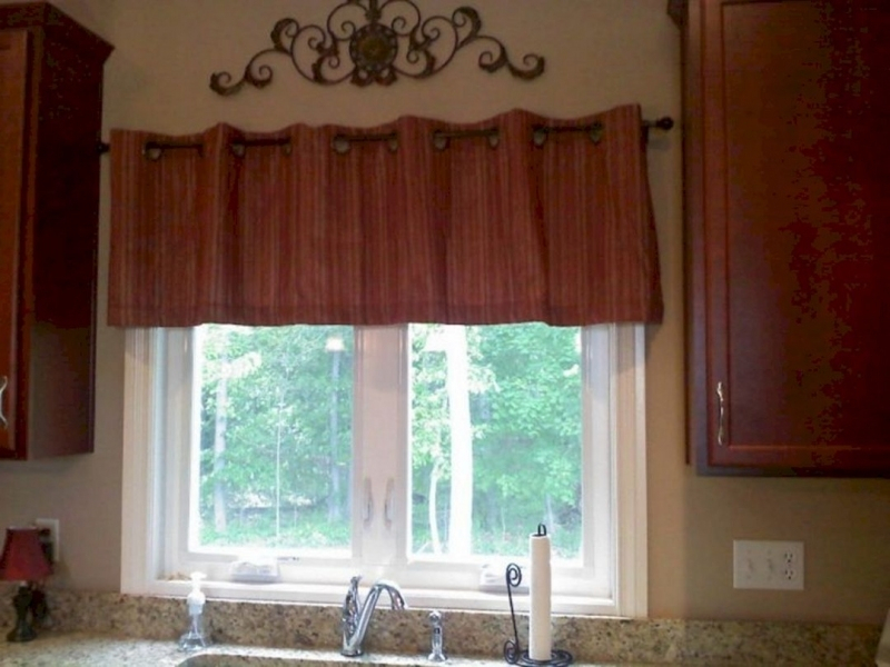 Excellent Rustic Kitchen Curtains Valances Regarding Red Rustic Kitchen Curtains (#13 of 30)
