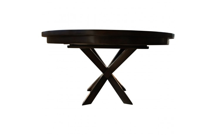 Extendable Intersecting X Pedestal Dining Table With Well Known Johnson Round Pedestal Dining Tables (View 19 of 20)