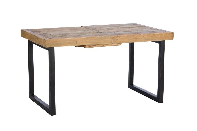 Famous Dalat Industrial Dining Table – Extending – Legs Slide Across ( Reclaimed Wood Dining Table ) Regarding Rustic Mahogany Extending Dining Tables (View 22 of 30)