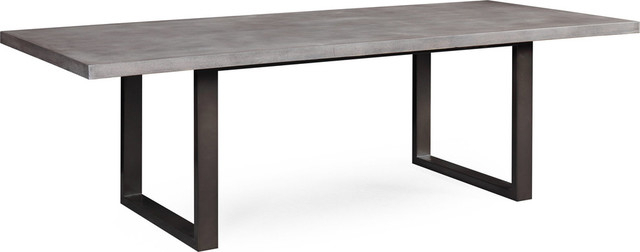 Famous Gray Wash Toscana Extending Dining Tables Pertaining To Edna Concrete Veneer Table – Washed Gray (#5 of 20)