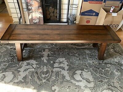 Famous Pottery Barn – Benchwright Square Coffee Table – Walnut Regarding Gray Wash Benchwright Pedestal Extending Dining Tables (#6 of 30)