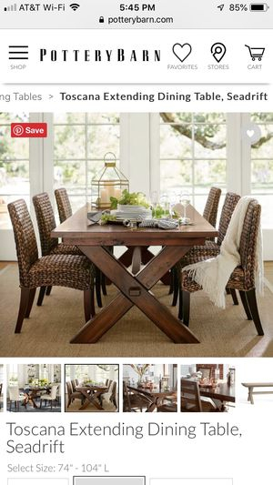 Famous Pottery Barn Toscana Extending Dining Table For Sale In Within Tuscan Chestnut Toscana Extending Dining Tables (View 15 of 30)