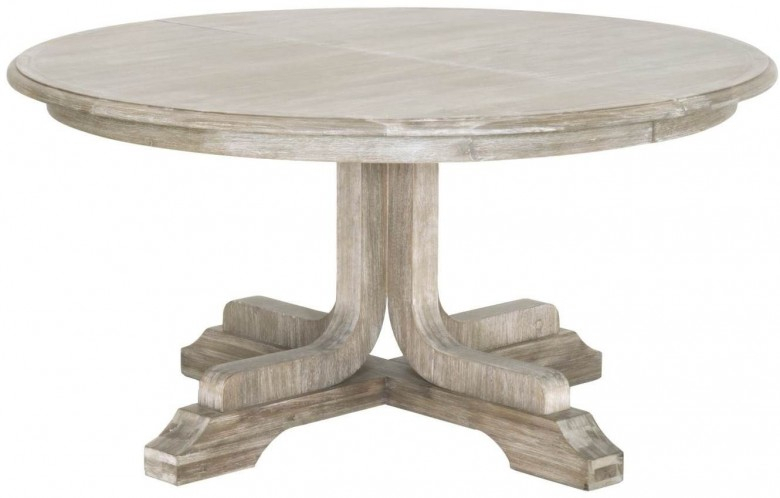 Famous Torrey Natural Gray 60 Extendable Round Dining Table For Johnson Round Pedestal Dining Tables (View 16 of 20)