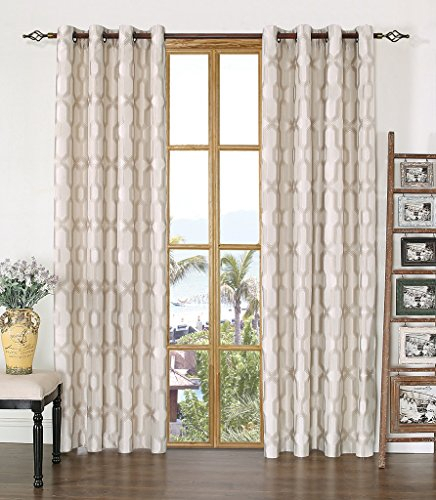 Fancy Collection Luxury Embroidered Curtain Set 4 Piece Gold Intended For Luxury Collection Kitchen Tiers (#12 of 50)