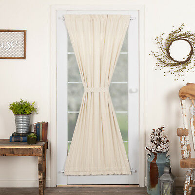 Farmhouse Curtains Simplicity Flax Door Panel Rod Pocket Cotton Linen Blend  | Ebay Throughout Rod Pocket Cotton Linen Blend Solid Color Flax Kitchen Curtains (View 7 of 30)