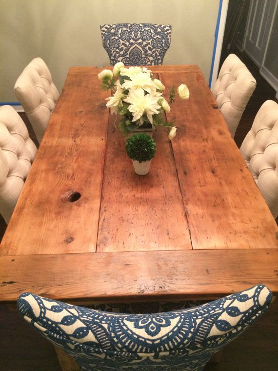 Farmhouse For Brussels Reclaimed European Barnwood Dining Tables (#9 of 20)