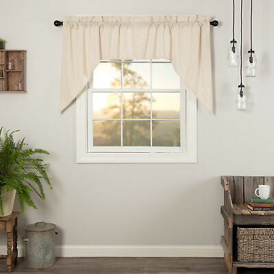 Farmhouse Kitchen Curtains Simplicity Flax Swag Pair Rod Pocket Solid Color  | Ebay With Farmhouse Kitchen Curtains (View 21 of 50)