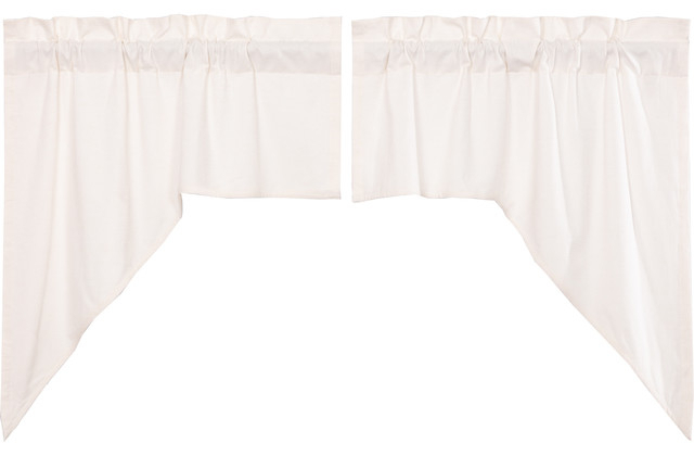 Farmhouse Kitchen Curtains Simplicity Flax Swag Pair Rod Pocket Solid Color  Flax Inside Rod Pocket Cotton Linen Blend Solid Color Flax Kitchen Curtains (View 12 of 30)