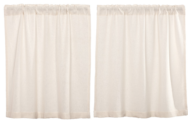 Farmhouse Kitchen Curtains Vhc Burlap Chocolate Tier Pair Rod Pocket Cotton In Rustic Kitchen Curtains (#7 of 30)