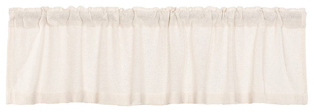 Farmhouse Kitchen Curtains Vhc Burlap Chocolate Valance Rod Pocket Cotton Intended For Rod Pocket Cotton Striped Lace Cotton Burlap Kitchen Curtains (View 11 of 30)