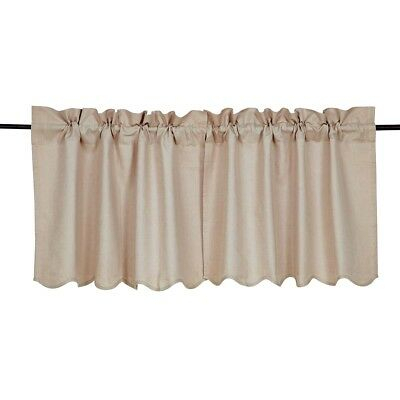 Farmhouse Kitchen Curtains Vhc Charlotte Tier Pair Rod Pocket Solid Color |  Ebay Throughout Rod Pocket Cotton Linen Blend Solid Color Flax Kitchen Curtains (View 18 of 30)