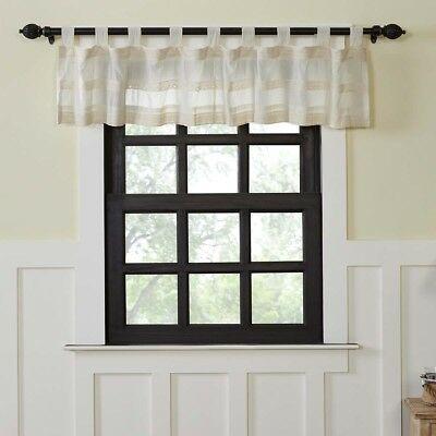 Farmhouse Kitchen Curtains Vhc Quinn Valance Tab Top Cotton For Farmhouse Kitchen Curtains (View 23 of 50)