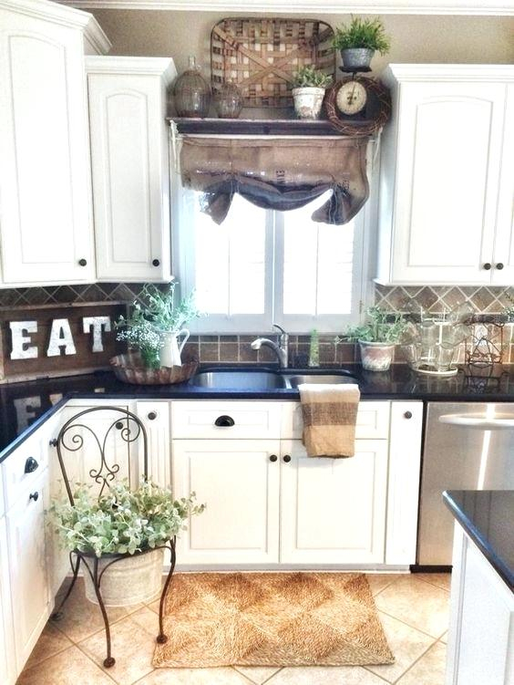 Farmhouse Kitchen Wall Decor Farmhouse Style Kitchen In Rustic Kitchen Curtains (#8 of 30)