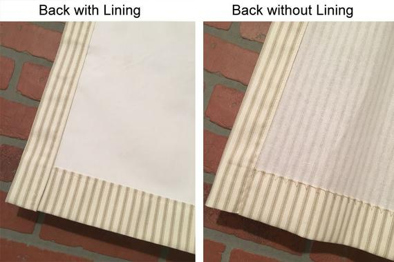 Farmhouse Ticking Stripe Kitchen Cafe Curtains/window Valance 19 Colors Flat Panel Or Rod Pocket – Custom Curtains Ships In 5 10 Biz Days For Farmhouse Stripe Kitchen Tier Pairs (View 6 of 30)