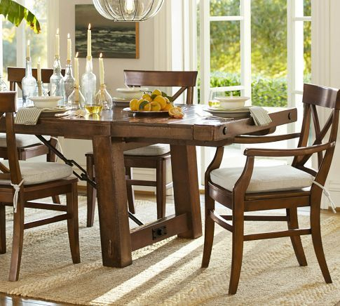 Fashionable Benchwright Extending Rectangular Dining Table, 86 X 42 Regarding Rustic Mahogany Benchwright Dining Tables (View 6 of 20)