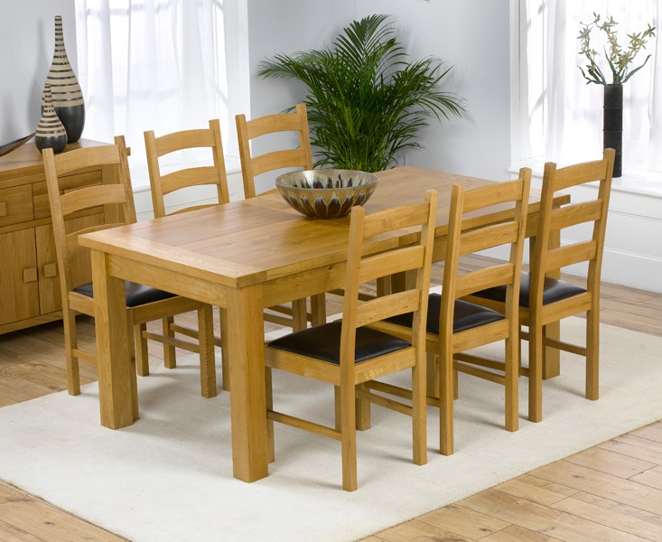 Fashionable Blackfriday Normandy 180Cm Solid Oak Extending Dining Table Regarding Normandy Extending Dining Tables (#5 of 30)