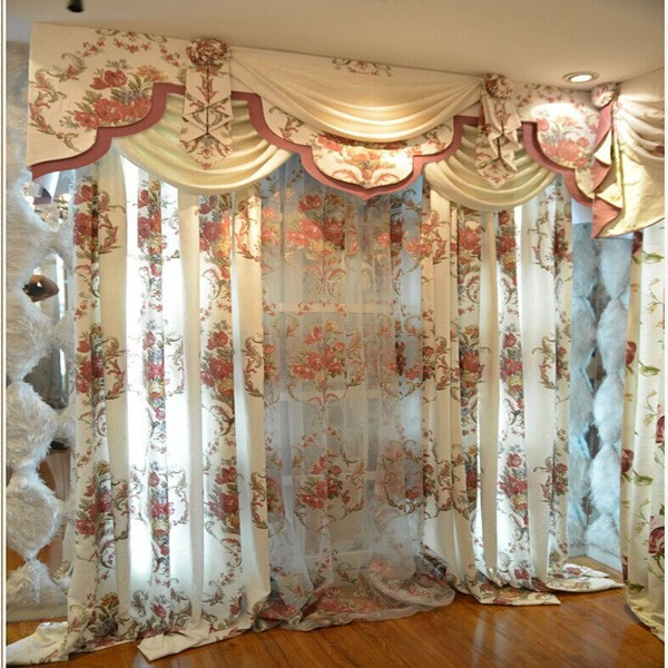 Fashionable White Floral Pattern Heavy Fabric Elegant Valance Curtain – Buy  Elegant Valance Curtain,finished Elegant Valance Curtain,polyester Elegant Inside Floral Pattern Window Valances (View 16 of 50)