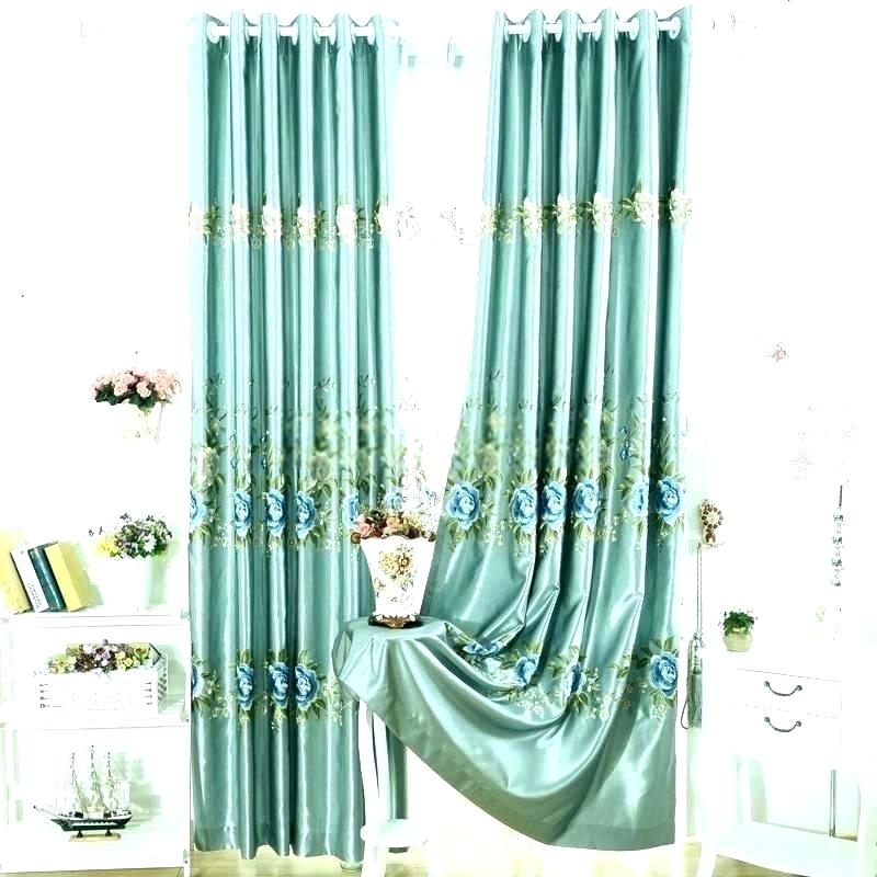 Faux Dupioni Silk Curtains Faux Silk Drapes Faux Silk Drapes For Floral Embroidered Faux Silk Kitchen Tiers (View 15 of 50)
