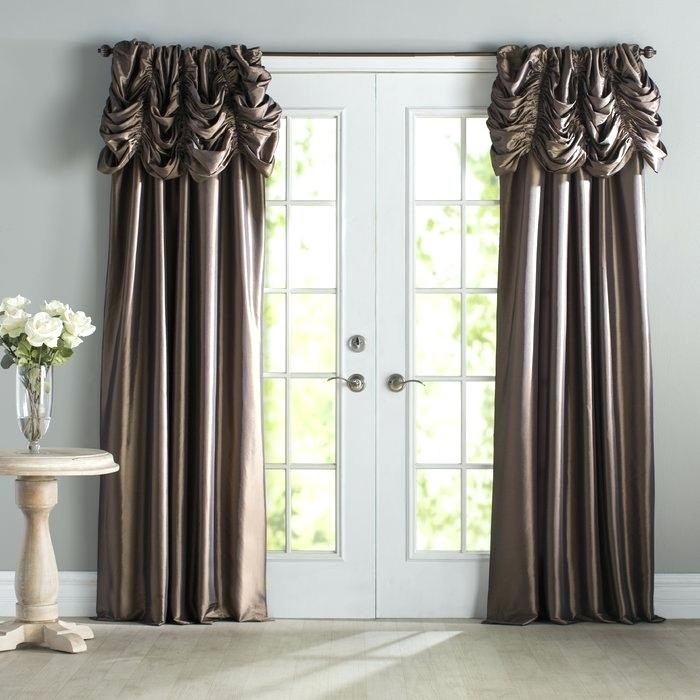 Faux Silk Curtains – Wayo With Regard To Rod Pocket Cotton Solid Color Ruched Ruffle Kitchen Curtains (#10 of 30)