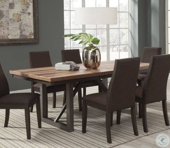 Favorite Brown Wash Livingston Extending Dining Tables Within Spring Creek Brown Espresso Extendable Dining Table (#8 of 20)