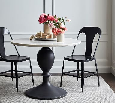 Popular Photo of Chapman Round Marble Dining Tables